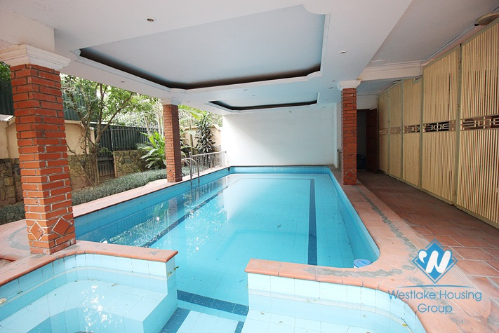 Gorgeous villa with swimming pool for rent in Tay Ho, Hanoi