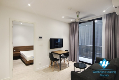 A good quality 1 bedroom apartment with balcony for rent in To Ngoc Van st, Tay Ho