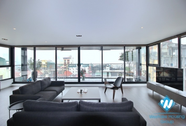 Super modern with lake view duplex to lease in Tay Ho district