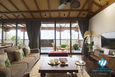 The top floor with breaking  view  apartment in Yen Phu village for lease.