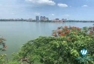 A new  1- bedroom apartment with lake view for rent in Nhat Chieu, Tay Ho