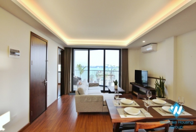 Brand-new, Breaking view,  Big balcony and  modern design apartment for rent in Tay Ho