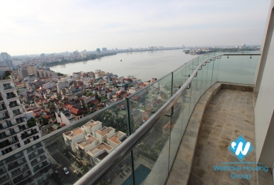 High quality, lake view 03 bedroom apartment for rent in Golden Westlake, Tay Ho, Hanoi