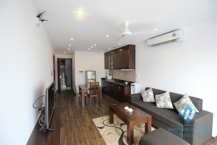 Separate one bedroom serviced apartment for rent in Cau Giay District, Hanoi