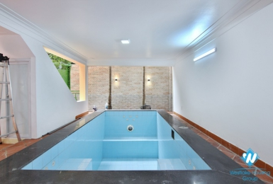 Furnished house rental with swimming pool in a quiet area in Tay Ho district, Hanoi