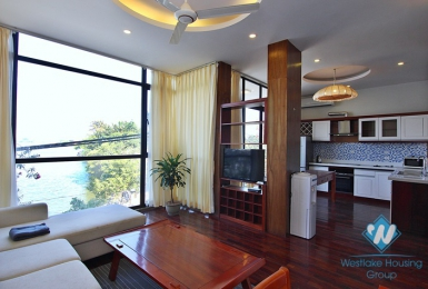 Lake view two bedrooms apartment for rent in Quang Khanh, Tay Ho