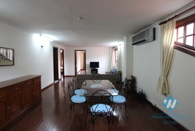 Wooden floor apartment with 2 bedrooms for rent in Tong Duy Tan st. Ha Noi
