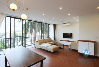New and beautiful three bedrooms apartment for rent in Nghi Tam village, Tay Ho district, Ha Noi.
