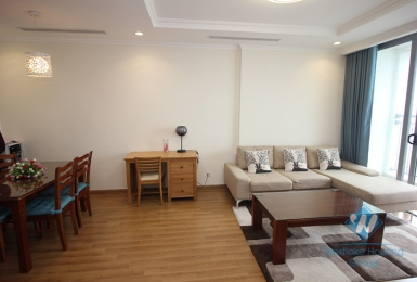 High floor apartment with big balcony for rent in Truc Bach area.