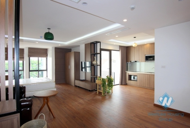 Big and clean studio apartment for rent in quite area, Tay Ho, Ha Noi