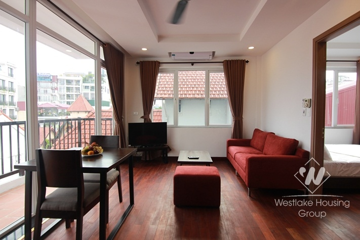 City view apartment with balcony for rent on To Ngoc Van, Tay Ho, Hanoi