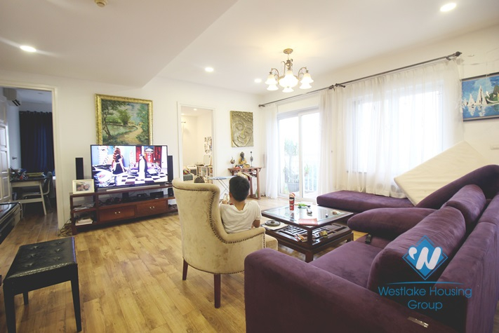 Well lit and spacious 3 bedrooms apartment for rent in Ciputra, Hanoi