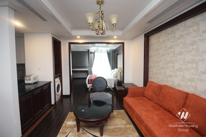 Luxury and new apartment in Pho Hue street is available for rent.