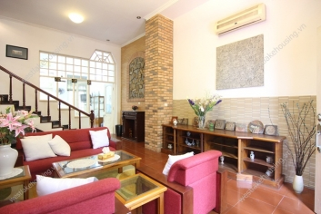 Fully furnished house with lots of light and space for rent in Tay Ho